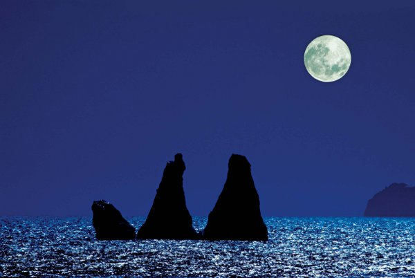 Antarctica Crystal Desert Ocean Night Moon