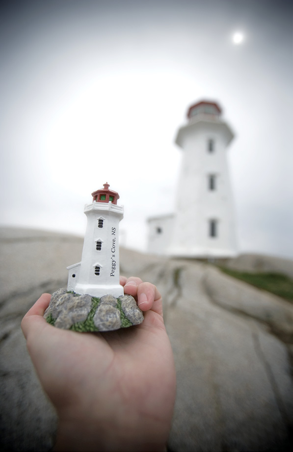 Photo Inspiration Communication Ideas Lighthouse Self-Portrait Peggy's Cove Nova Scotia