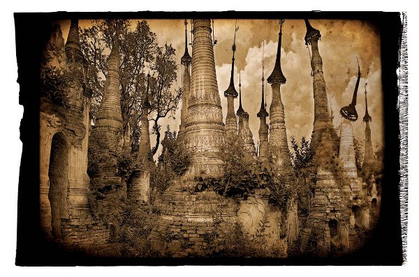 Photo Inspiration Old Is New Burma Polaroid Edge paper Texture