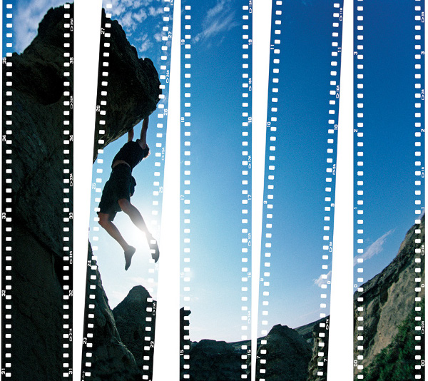 Photo Inspiration Old Is New Hanging On Rock Climbing Filmstrip