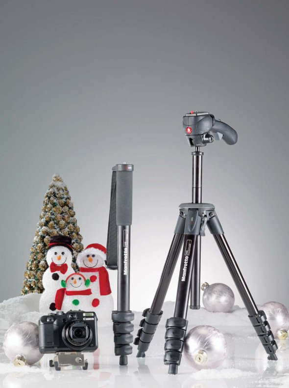 Holiday Gift Guide 2010 Manfrotto Monopod Tripod Canon Camera