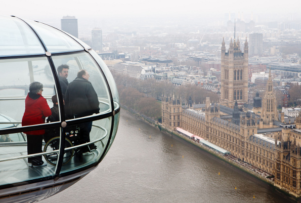 Michael Willems Top Ten Travel Tips for 'Togs London Eye Ferris Wheel Parliament