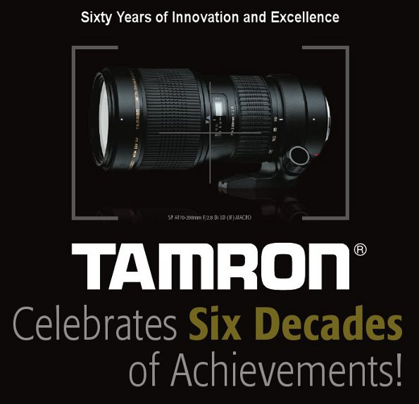 Tamron Celebrates Six Decades of Achievements