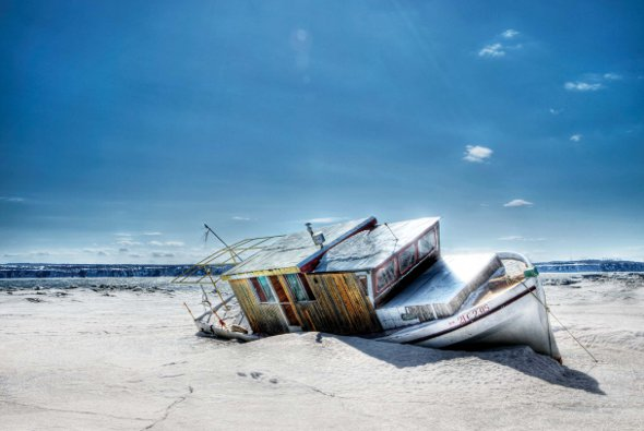 Winter Photography Boat Shore