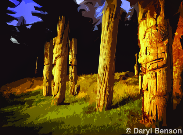 Daryl Benson - One Click Wonder - Homage to Emily Carr Cutout Photoshop