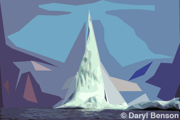 Daryl Benson - One Click Wonder - Homage to Lawren Harris Cutout Photoshop