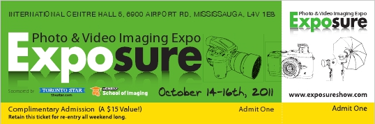 Henry's Cameras Exposure Photo and Video Imaging Expo Ticket