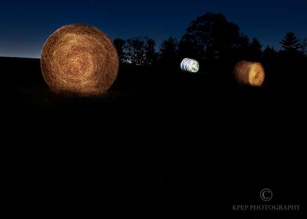 Kevin Pepper - Light Painting - Hay Bales