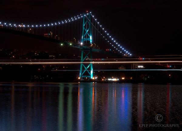 Kevin Pepper - Light Painting - Light Streaks Under Lions Gate Bridge