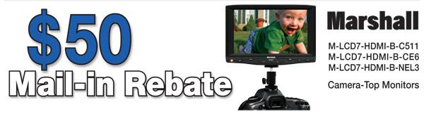 Marshall Monitors LCD Camera-Top Monitor Rebate Form