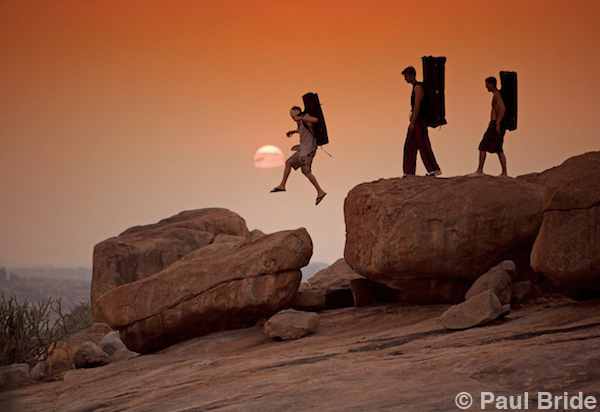 Paul Bride - The Adventure of Photography - Hampi India Silhouette Climbers