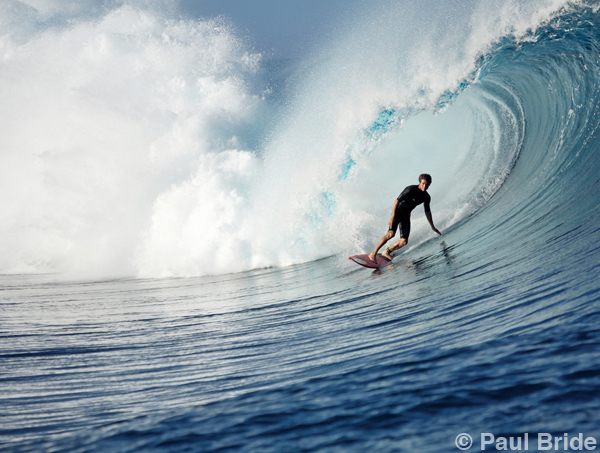 Paul Bride - The Adventure of Photography - Tahiti Surfer Teahupoo