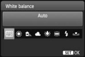 Canon EOS Rebel T3i White Balance Change Screen