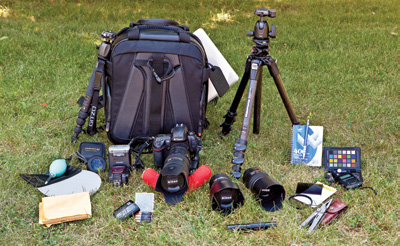 Eli Amon - Gearing up for Photo Adventures - Packed Gear 2