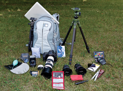 Eli Amon - Gearing up for Photo Adventures - Packed Gear