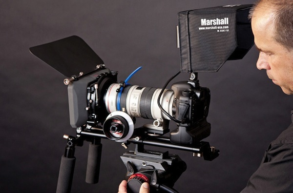 Michel Roy - DSLR Video Magic - Marshall External Monitor, Genus Follow Focus and Sunshade, Manfrotto Tripod and Head