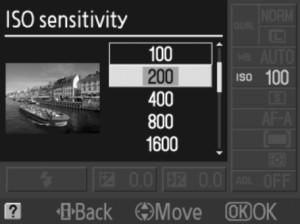 Nikon D3000 Change ISO Sensitivity