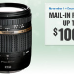 Tamron Canada Rebates Until December 31 – Up to $100 Off