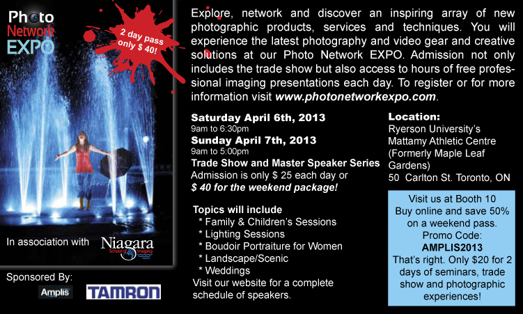 Photo Network Expo April 6 & 7 2013