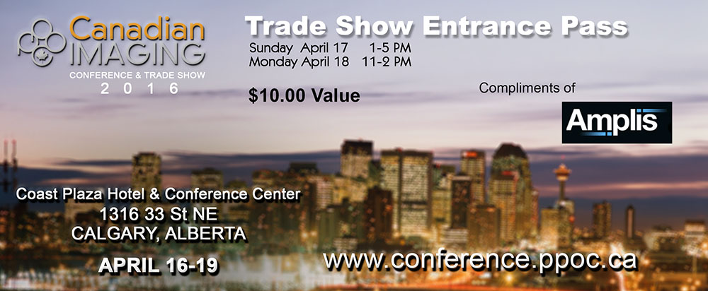 Canadian Imaging Trade Show 2016 Free Pass