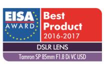 "SP 85mm F/1.8 Di VC USD (Model F016) wins ""European DSLR Lens 2016-2017"". Tamron lens wins EISA Award for 11th consecutive year"