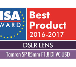 "SP 85mm F/1.8 Di VC USD (Model F016) wins ""European DSLR Lens 2016-2017"". Tamron lens wins EISA Award for 11th consecutive year"