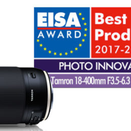 Tamron lenses awarded with two prestigious EISA Awards in 2017